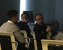 El Dr. J Estébanez moderando una Sesión de Vídeos en A Coruña 26-27.1.17