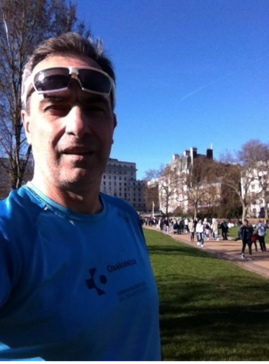 Preparando la Carrera de Empresas por los parques de Londres.