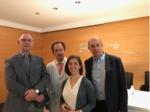 Los Drs. Tombal, J Rubio (IVO), Ainara Villafruela y JP Sanz Jaka