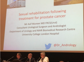 Moderando una Sesión los Drs. I Moncada, N Cruz y JF Suárez Novo