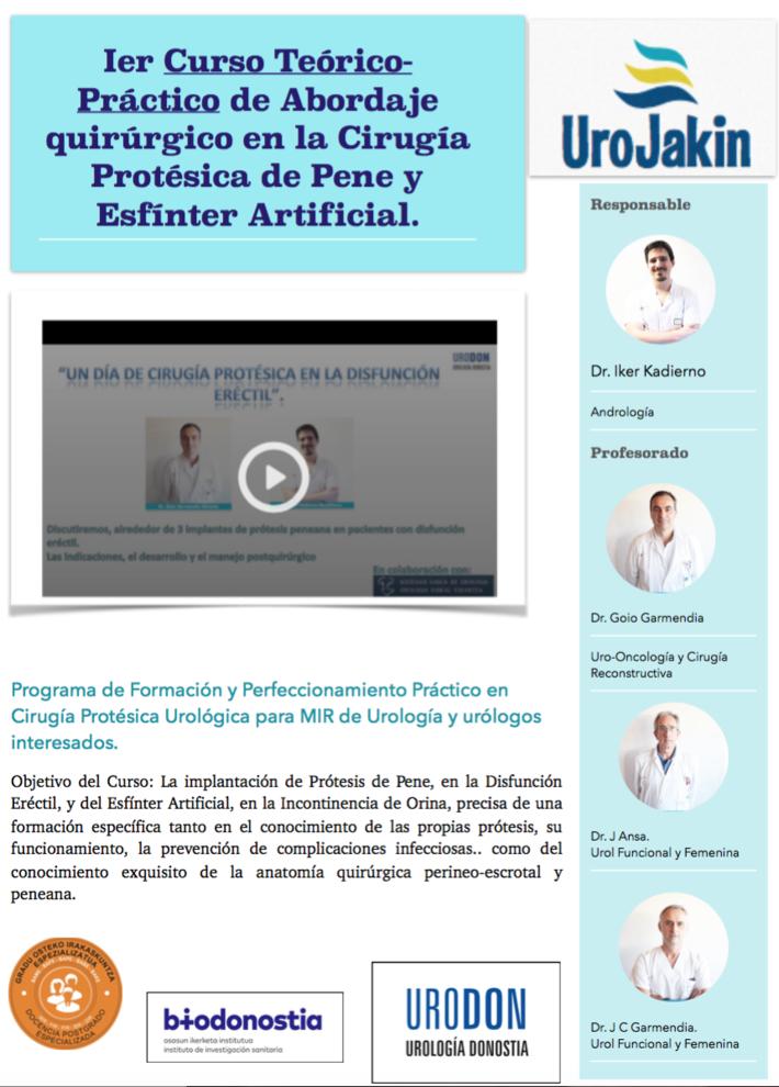 Ier Curso de Disección anatómica en la Cirugía Protésica y Esfínter ...