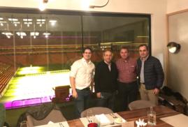 El Dr. R Llarena, nuevo Presidente de la SVU con los Drs. Kaiderno, Sanz Jaka y Garmendia