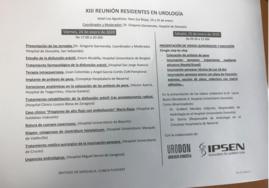 Programa 13ª Reunión MIR Urología en Haro. Enero 2020