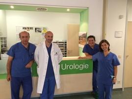 En la Unidad de Urología con el Dr. Wendt-Nordahl