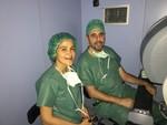 La Dra. Marta de la Cruz con el Dr. Javier Estébanez