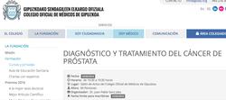 Curso sobre Cáncer de Próstata para Atención Primaria. Donostia Marzo 16